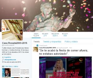 Twitter tributo a las Presidencias Kirchner